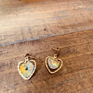 9ct gold Swarovski Crystal Earings